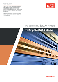 Front cover thumbnail - Testing G.8273.4 Clocks